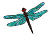 Dragonfly Window Clings - Blue/Green
