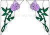 Rose Corner Window Cling Set - Lavender