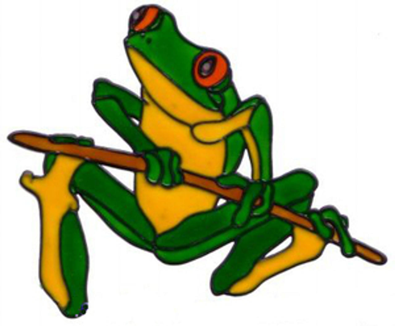 Frog Window Cling Colorful Impressions
