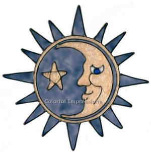 Sun & Moon Window Cling (1)