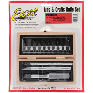 Excel Craftman Knife Set In Wooden Box