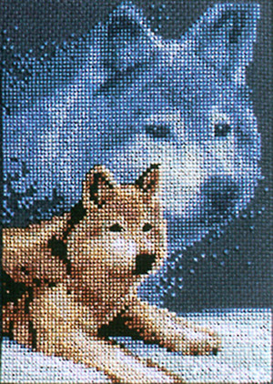 Forever Wild Wolf Counted Cross Stitch Kit