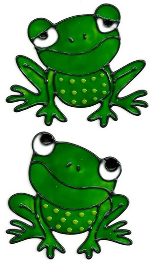 Frogs Window Cling Set