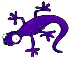 Gecko Window Cling - Purple