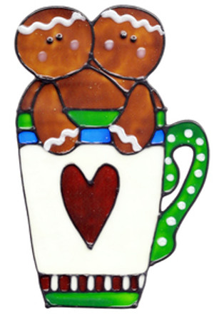 Gingerbread Mug Window Cling