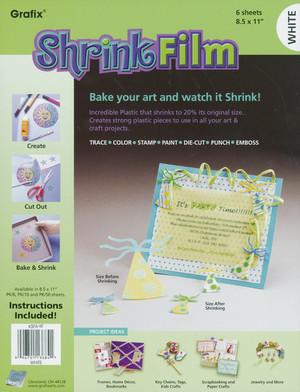 Grafix Shrink Film - White