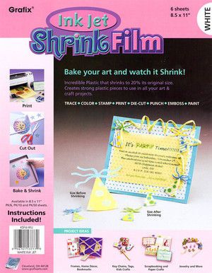Grafix Ink Jet Shrink Film - White