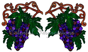 Grapes Corner Window Cling Set