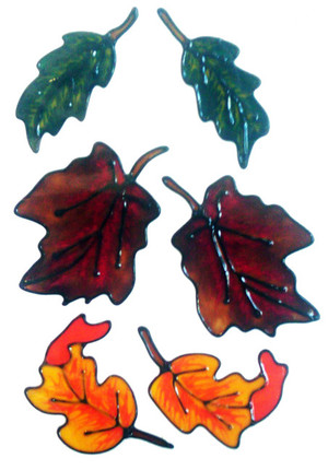 Autumn Leaves Window Cling Set (1)