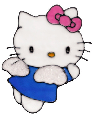 Hello Kitty Angel Window Cling