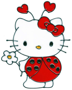 Hello Kitty Ladybug Window Cling