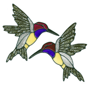 Hummingbird Window Cling Set