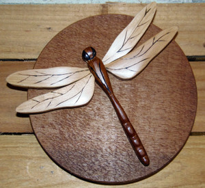 Intarsia Dragonfly Wall Plaque (2)