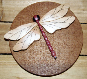 Intarsia Dragonfly Wall Plaque (1)