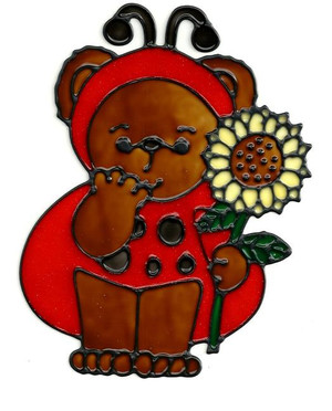 Ladybug Bear Window Cling