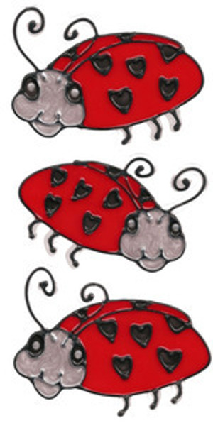 Ladybug Love Window Cling Set