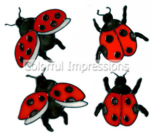 Ladybugs Window Cling Set