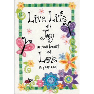 Live Life Crewel Kit