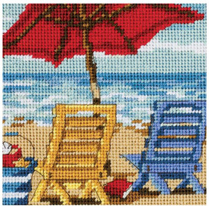 Beach Chair Duo Needlepoint Kit