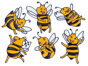 "Bumble Bee ""Happy"" Window Clings (1)"