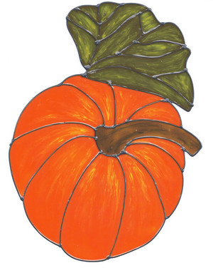 Pumpkin Window Cling