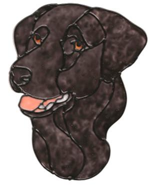 Black Labrador Window Cling