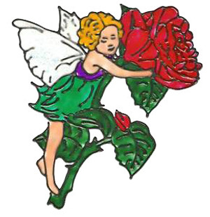Rose Fairy Window Cling