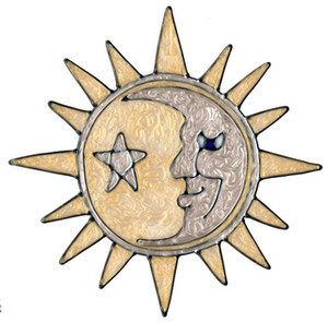 Sun & Moon Window Cling (3)