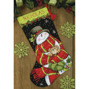 Snowman & Bear Needlepoint Stocking Kit