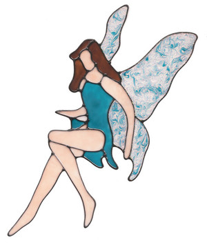 Sparkle Wing Fairy Window Cling - Turquoise