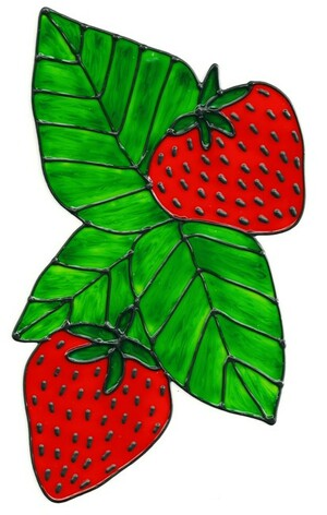 Strawberries Window Cling