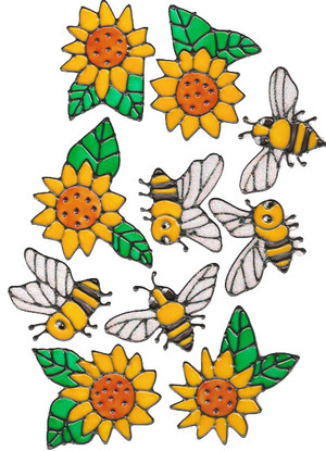 "Bumble Bee ""Sunflower"" Window Clings"