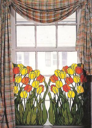 Tulip Garden Window Cling Set
