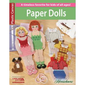Leisure Arts Paper Dolls Plastic Canvas Pattern Book
