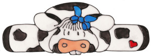 Blue Ribbon Country Cow Window Cling