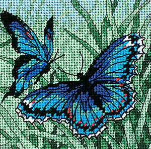 Butterfly Duo Mini Needlepoint Kit
