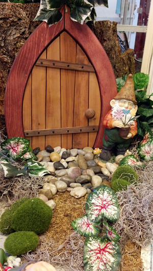 Wooden Fairy / Gnome Door - Closed (Medium)