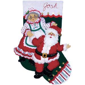 Dancing Claus Stocking Felt Applique Kit