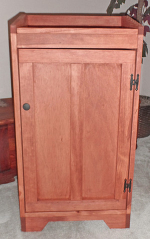 Trash / Recycle Storage Bin - Medium Brown