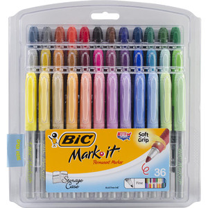 Bic Mark-It Fine Point Permanent Markers 36/Pkg