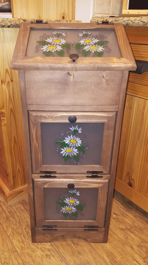 Potato Vegetable Storage Bin - Daisies