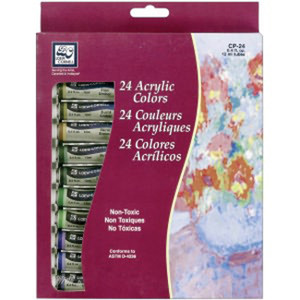 Acrylic Paints 12ml 24/Pkg - Assorted Colors