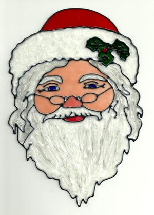 Cheerful Santa Claus Window Cling