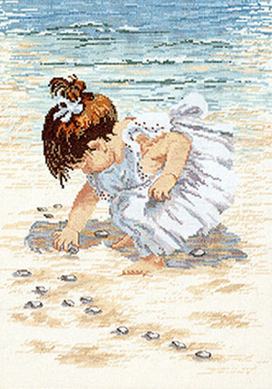 Collecting Shells Counted Cross Stitch Kit