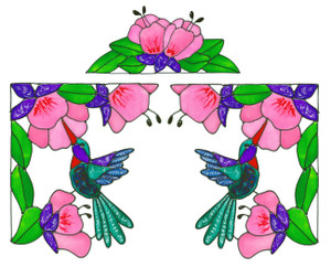 Hummingbird Corner Window Cling Set (1)