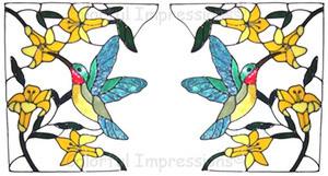 Hummingbird Corner Window Cling Set (3)