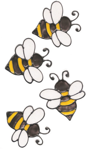 Bumble Bee Window Clings (4)