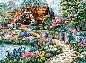 Cottage Retreat Needlepoint Kit