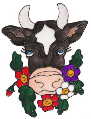 Cow Head Window Cling
