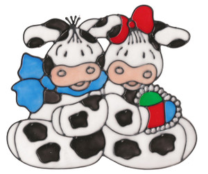 Country Cows Window Cling